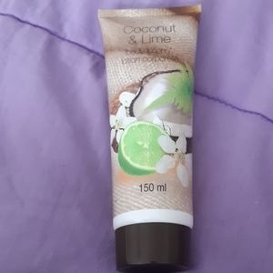 Coconut and lime body lotion